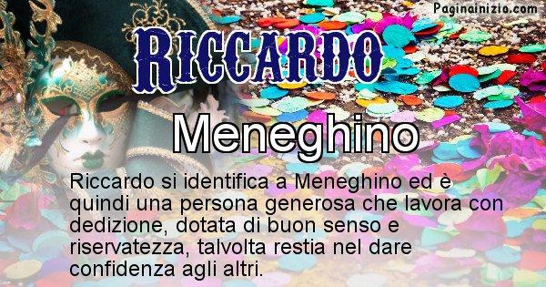 Riccardo - Maschera associata al nome Riccardo
