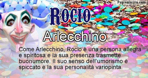 Rocio - Maschera associata al nome Rocio