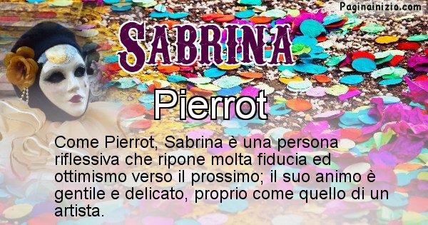 Sabrina - Maschera associata al nome Sabrina