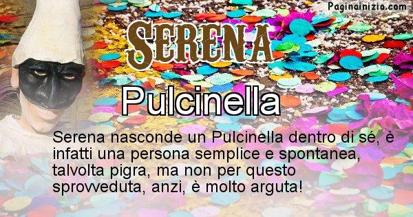 Serena - Maschera associata al nome Serena
