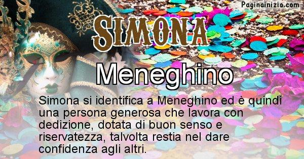 Simona - Maschera associata al nome Simona