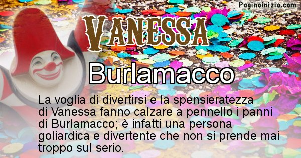 Vanessa - Maschera associata al nome Vanessa