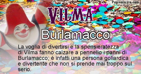 Vilma - Maschera associata al nome Vilma