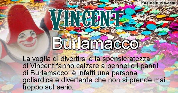 Vincent - Maschera associata al nome Vincent