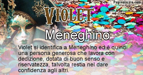 Violet - Maschera associata al nome Violet