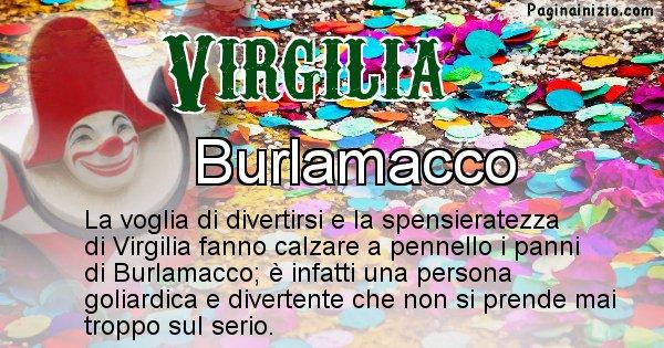 Virgilia - Maschera associata al nome Virgilia
