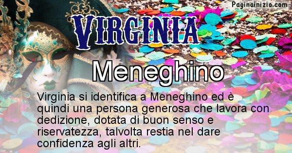 Virginia - Maschera associata al nome Virginia