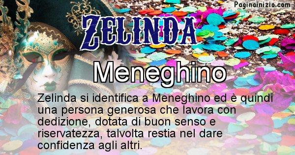 Zelinda - Maschera associata al nome Zelinda
