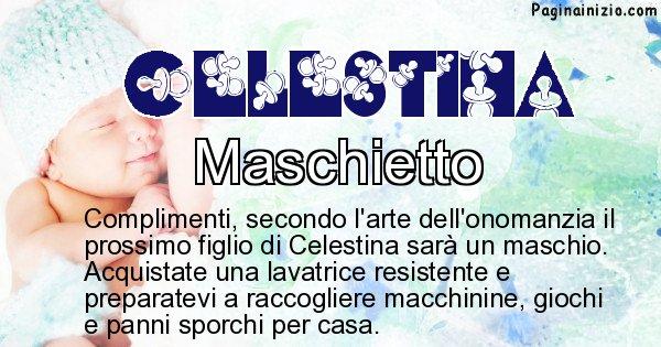 Celestina - Sesso del figlio di Celestina