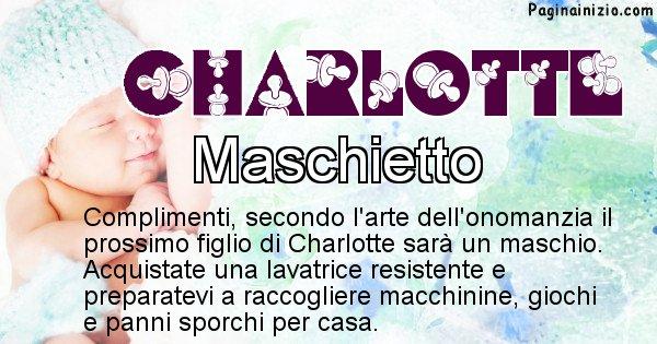 Charlotte - Sesso del figlio di Charlotte