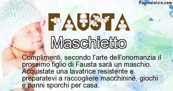 Fausta - Sesso del figlio di Fausta
