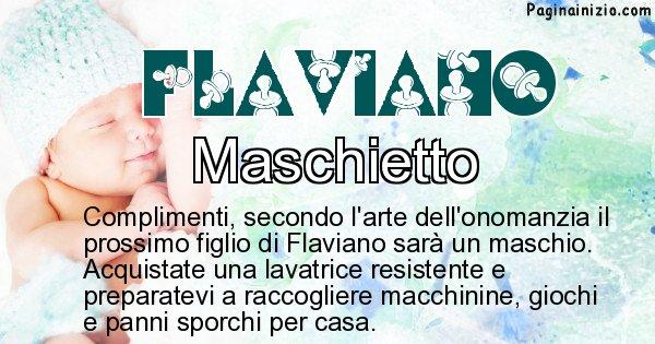Flaviano - Sesso del figlio di Flaviano