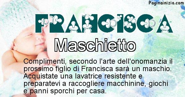 Francisca - Sesso del figlio di Francisca