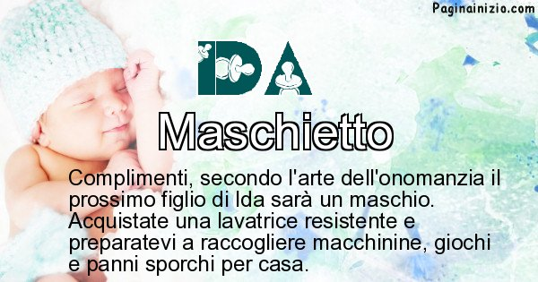 Ida - Sesso del figlio di Ida
