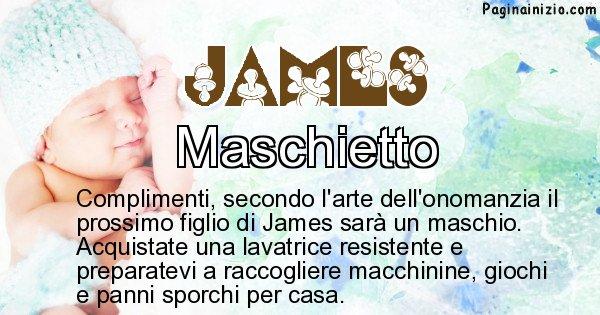 James - Sesso del figlio di James