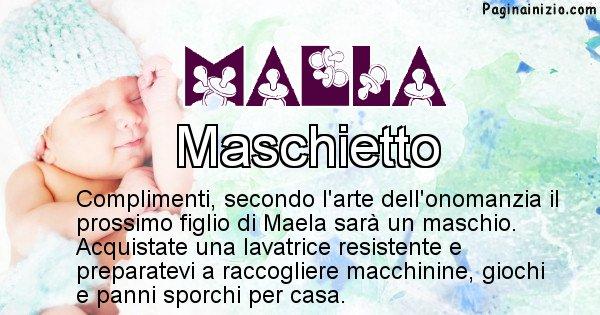 Maela - Sesso del figlio di Maela