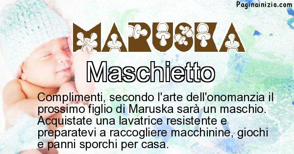 Maruska - Sesso del figlio di Maruska