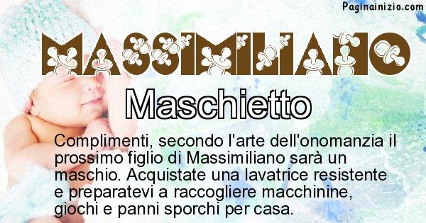 Massimiliano - Sesso del figlio di Massimiliano