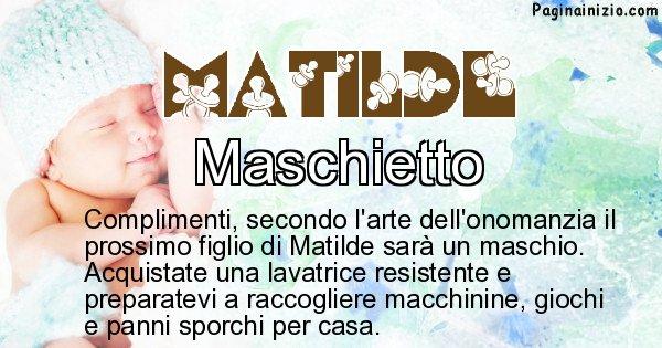 Matilde - Sesso del figlio di Matilde