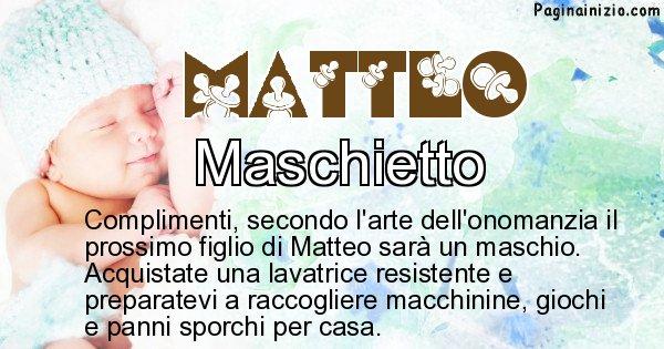 Matteo - Sesso del figlio di Matteo