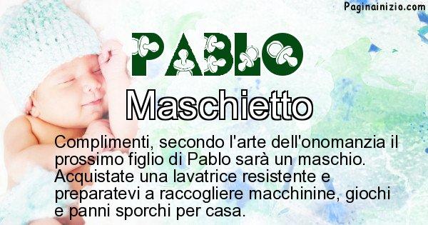 Pablo - Sesso del figlio di Pablo