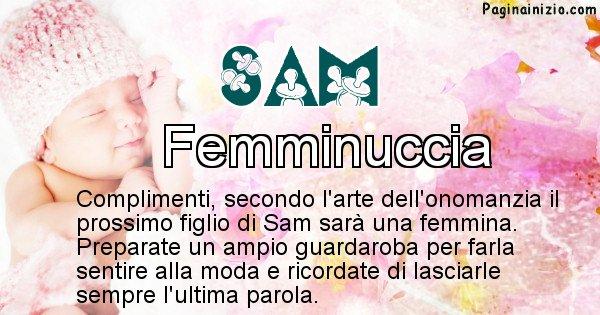 Sam - Sesso del figlio di Sam