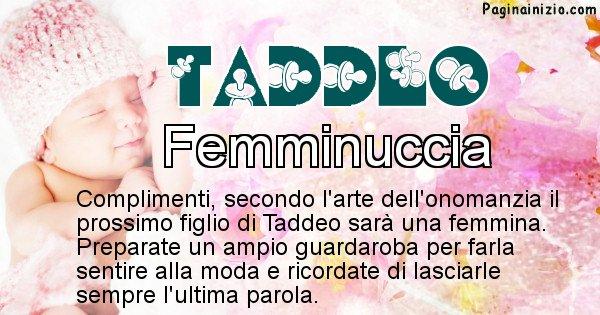 Taddeo - Sesso del figlio di Taddeo