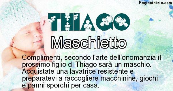 Thiago - Sesso del figlio di Thiago