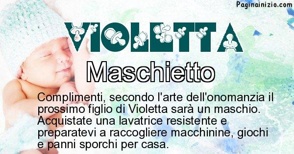 Violetta - Sesso del figlio di Violetta