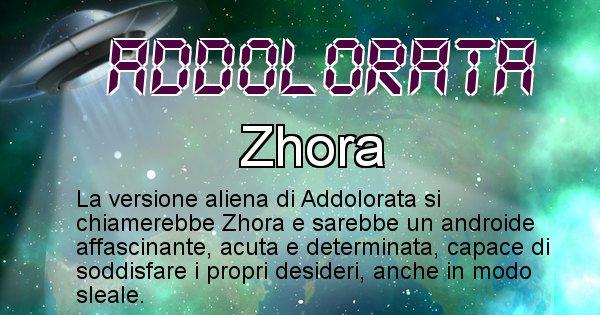 Addolorata - Nome alieno corrispondente a Addolorata