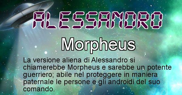 Alessandro - Nome alieno corrispondente a Alessandro