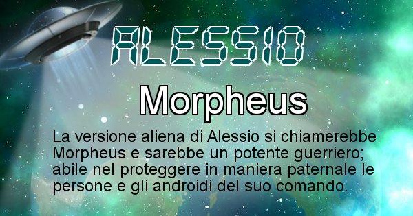 Alessio - Nome alieno corrispondente a Alessio