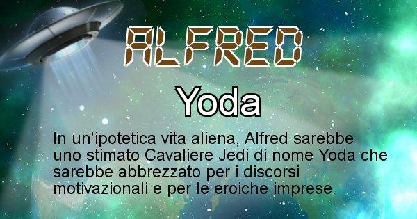 Alfred - Nome alieno corrispondente a Alfred