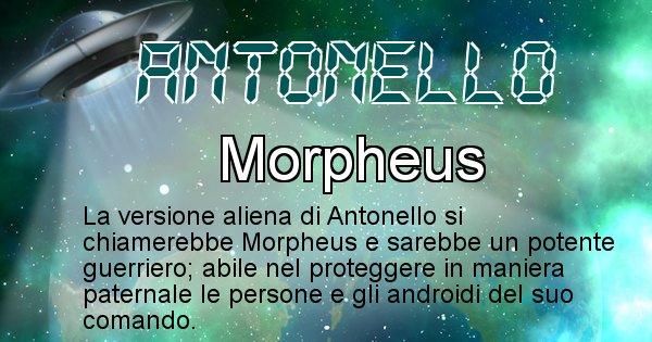 Antonello - Nome alieno corrispondente a Antonello