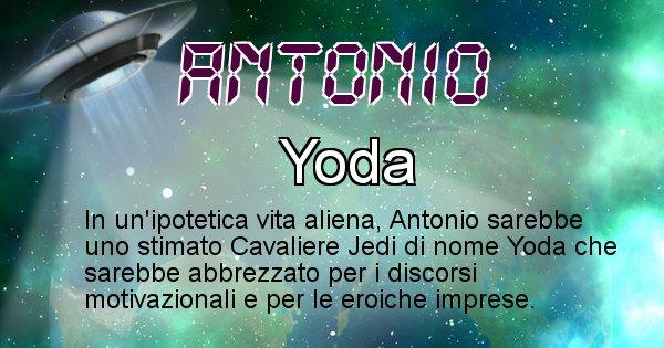 Antonio - Nome alieno corrispondente a Antonio