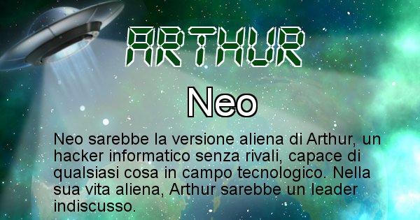 Arthur - Nome alieno corrispondente a Arthur