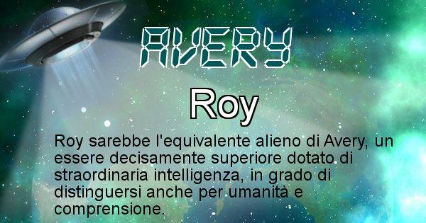 Avery - Nome alieno corrispondente a Avery