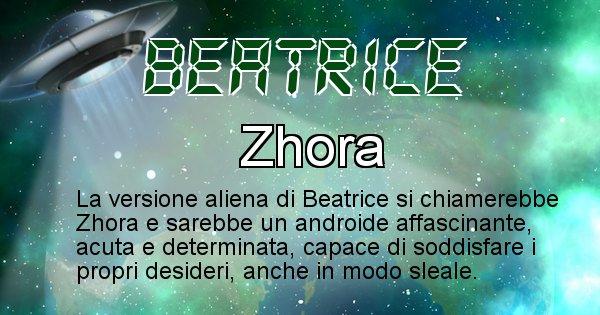 Beatrice - Nome alieno corrispondente a Beatrice
