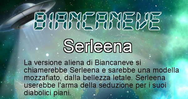Biancaneve - Nome alieno corrispondente a Biancaneve