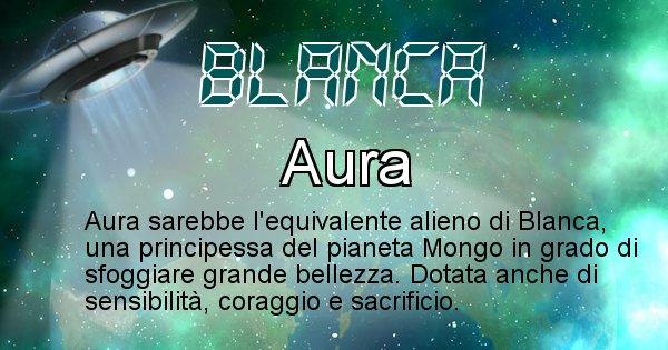 Blanca - Nome alieno corrispondente a Blanca