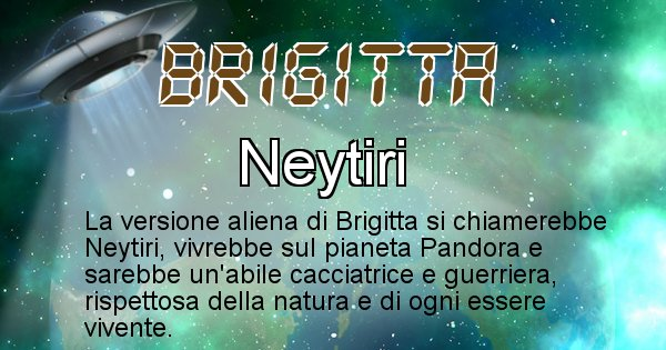 Brigitta - Nome alieno corrispondente a Brigitta