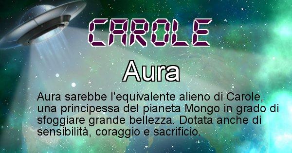 Carole - Nome alieno corrispondente a Carole