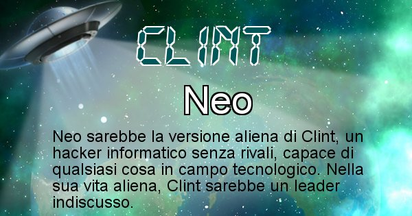 Clint - Nome alieno corrispondente a Clint
