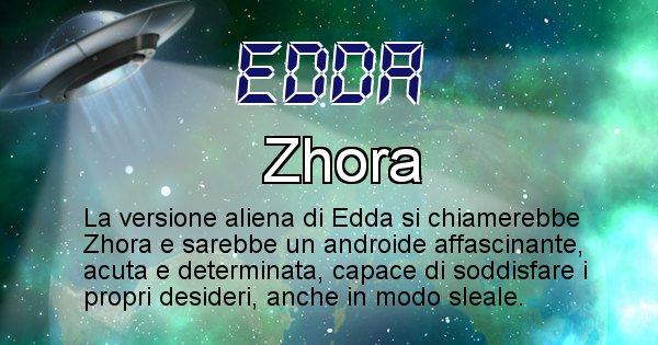 Edda - Nome alieno corrispondente a Edda