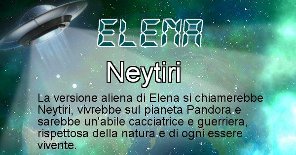 Elena - Nome alieno corrispondente a Elena