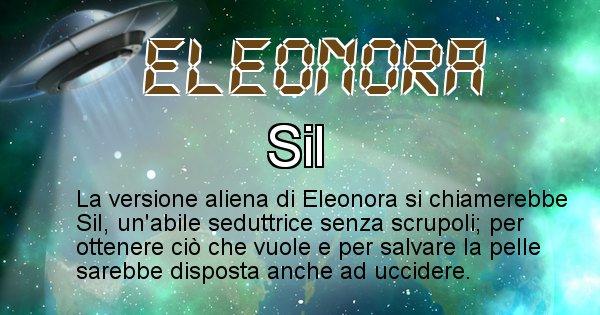 Eleonora - Nome alieno corrispondente a Eleonora