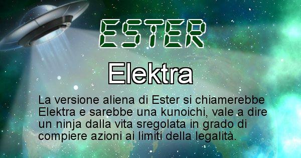 Ester - Nome alieno corrispondente a Ester