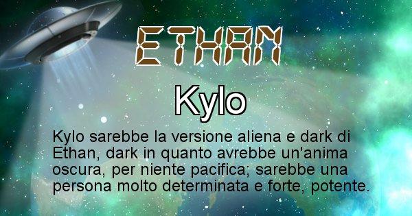 Ethan - Nome alieno corrispondente a Ethan