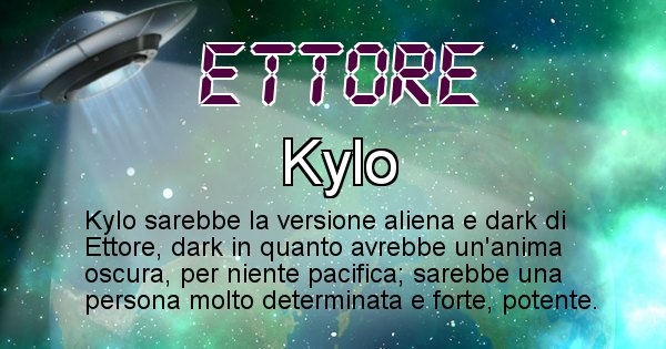 Ettore - Nome alieno corrispondente a Ettore