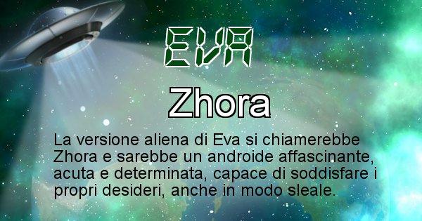 Eva - Nome alieno corrispondente a Eva